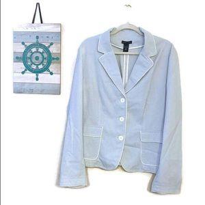 NY&Co Light Blue and white Pinstripe Blazer sz 18